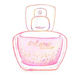 香水のイラストピンク