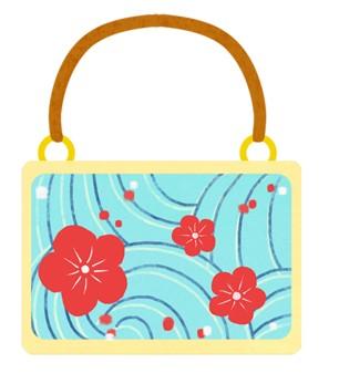 和柄バッグのイラスト