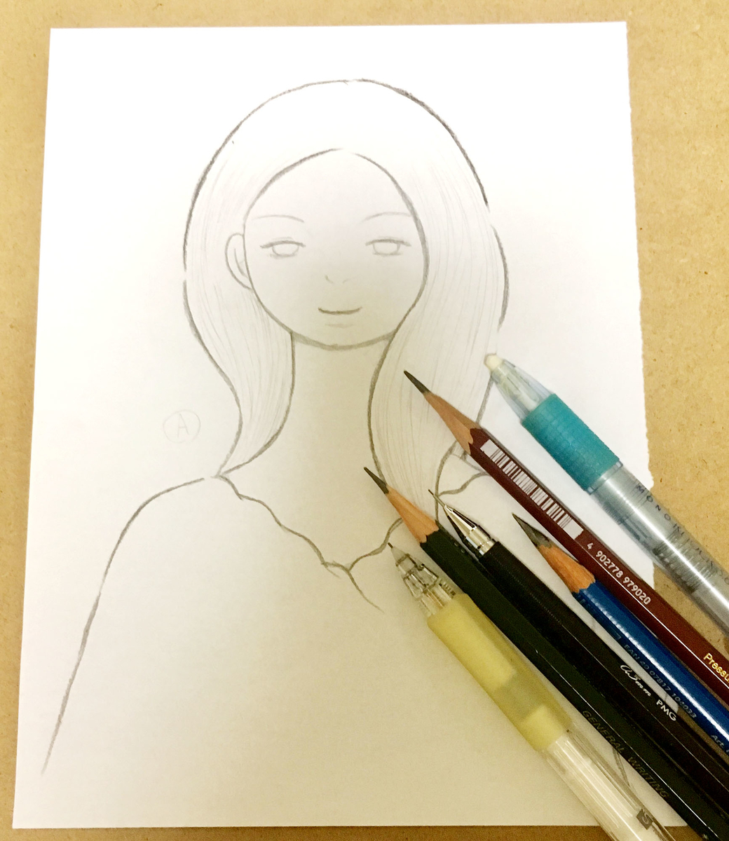 アナログイラスト 女性