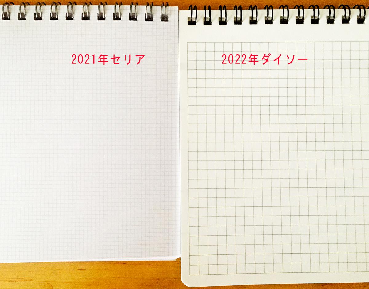 ダイソーカレンダー セリアカレンダー 比較