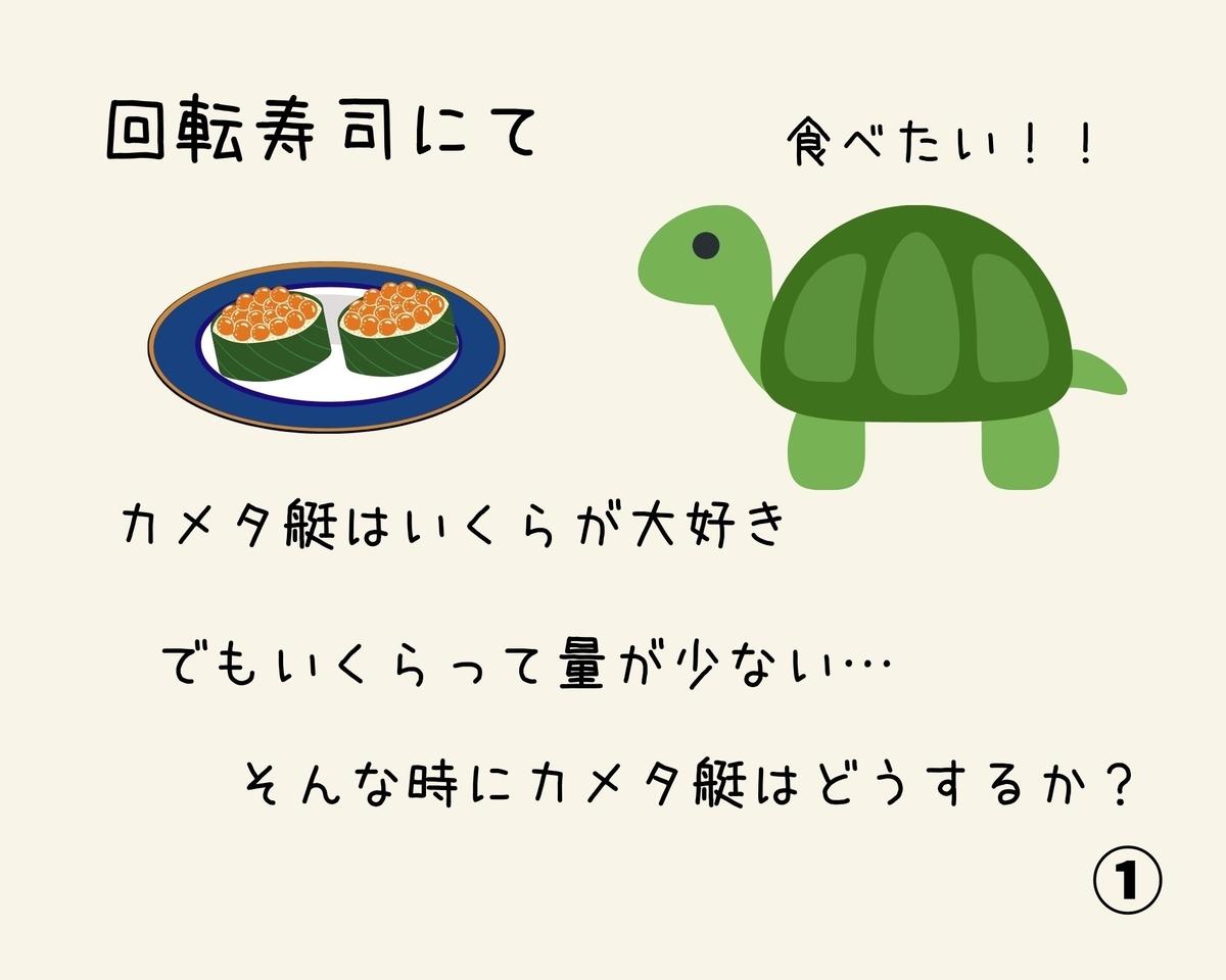 4コマ漫画 食べ方(寿司編)①
