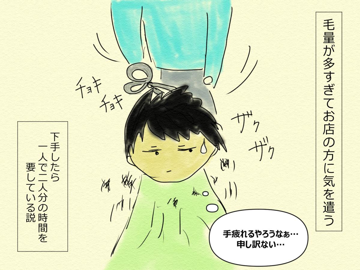 日常漫画 カメタ艇のヘアカット事情③