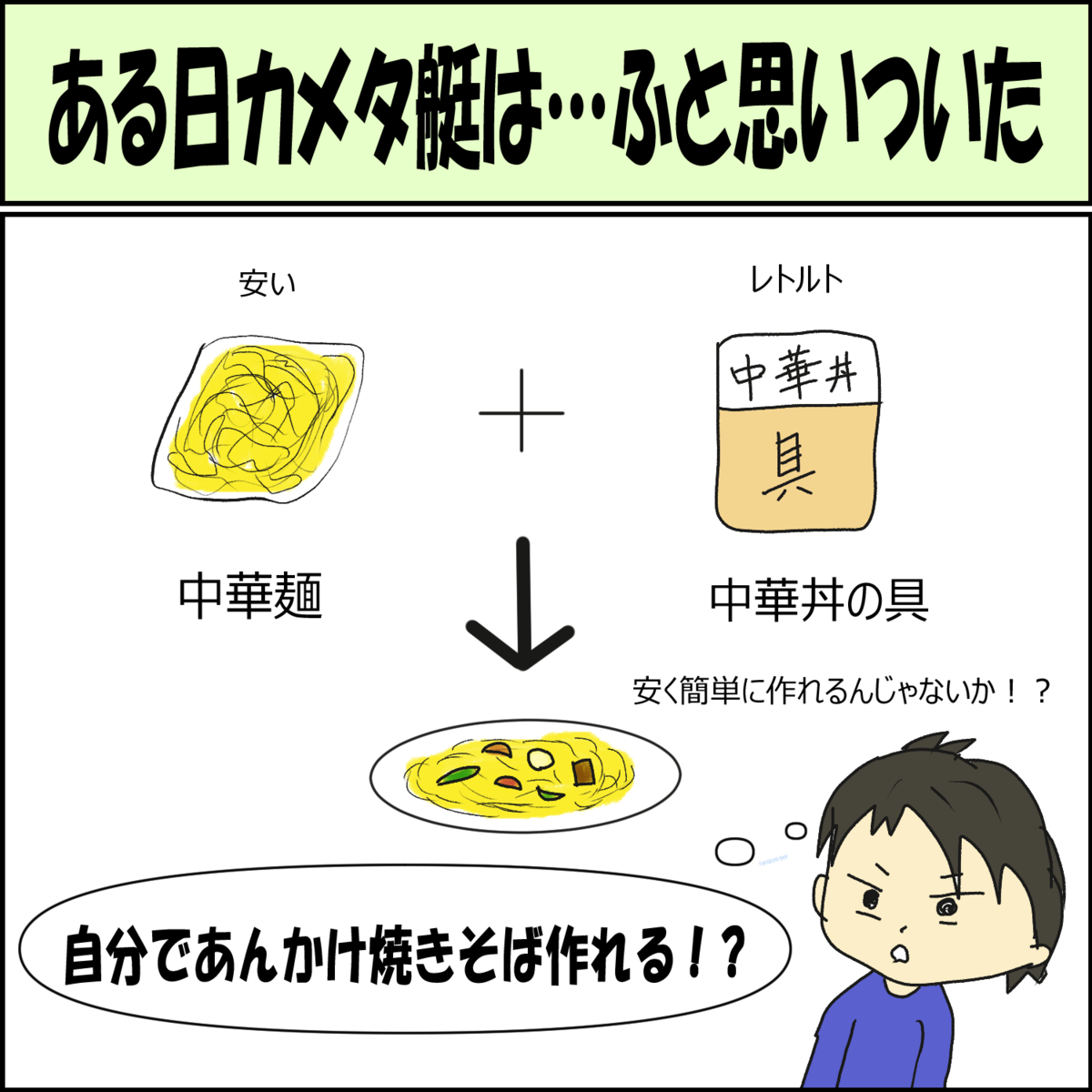 日常漫画 料理の失敗談①