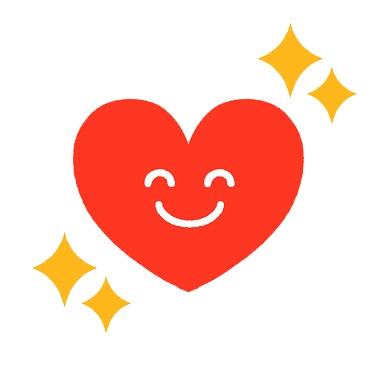 笑顔のハートは夫婦円満の証
