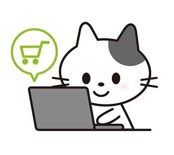 ショップで買い物するネコ