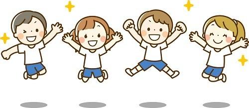 体操服の子供たち