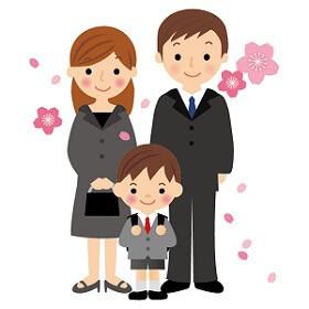 卒園式と入学式の親子