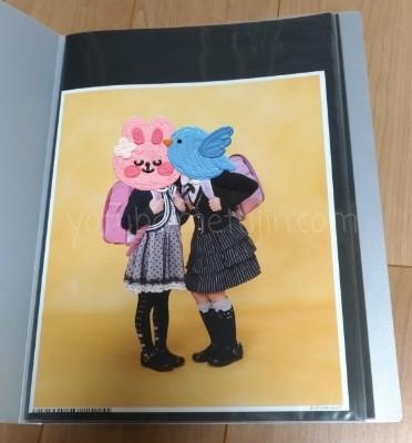 スタジオアリスの四つ切写真が入るファイル