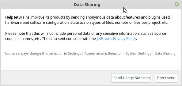 データ共有設定