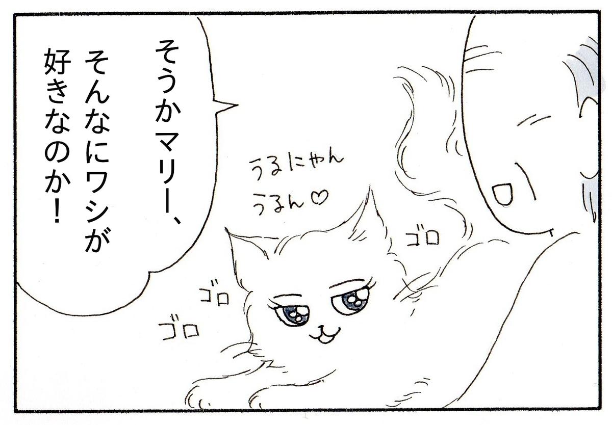 おじいさんに甘える猫と「ワシが好きなのか」と喜ぶおじいちゃん