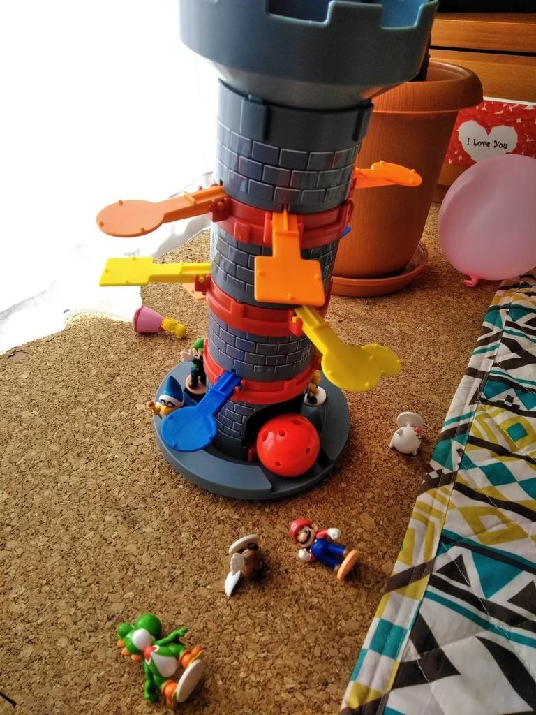 スーパーマリオ ぶっ飛び! タワーゲーム ぶっ飛んだ状態