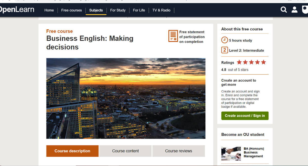 Business English: Making decisions