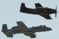 [Aircraft]USAF Heritage Flight A-10A&A-1D