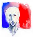 [フランス][イラスト]フランス、或は白、孤独という字そのもの