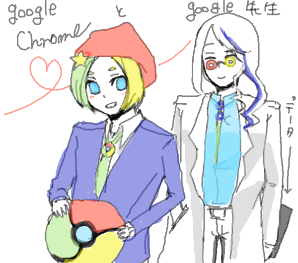 [chromeくん][google先生]