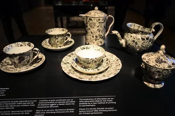 スイス国立博物館にあったかわいい食器たち