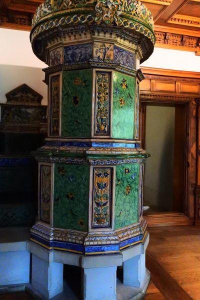 スイスにあった昔の暖炉
