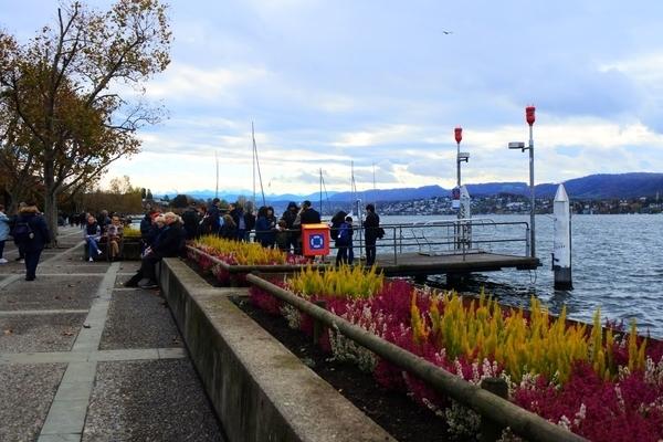 チューリッヒ遊覧船ショートコース用の乗船場