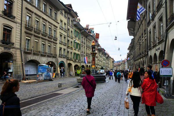 ベルン旧市街にある噴水