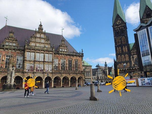 ブレーメンの世界遺産に登録されている市庁舎(Bremer Rathaus)