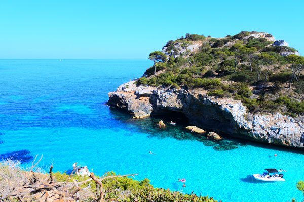スペインのマヨルカ島にあるシークレットビーチ