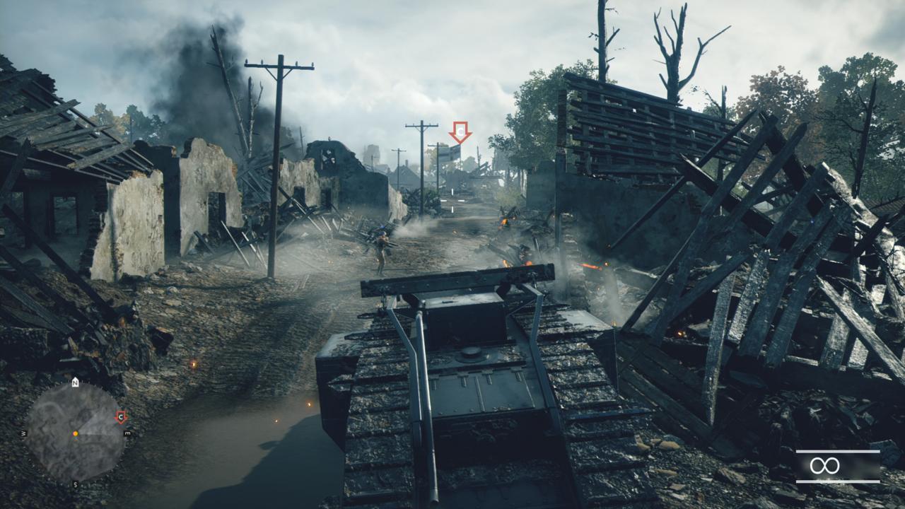 戦場を行く戦車
