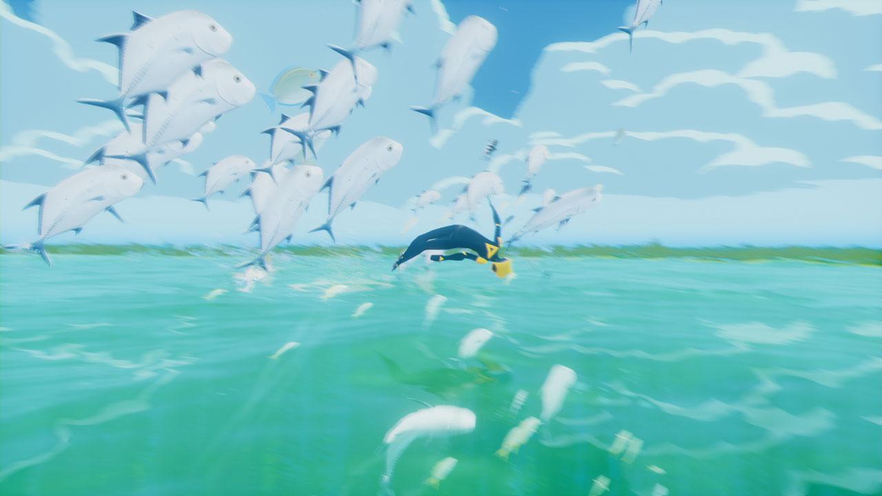 海面ジャンプ