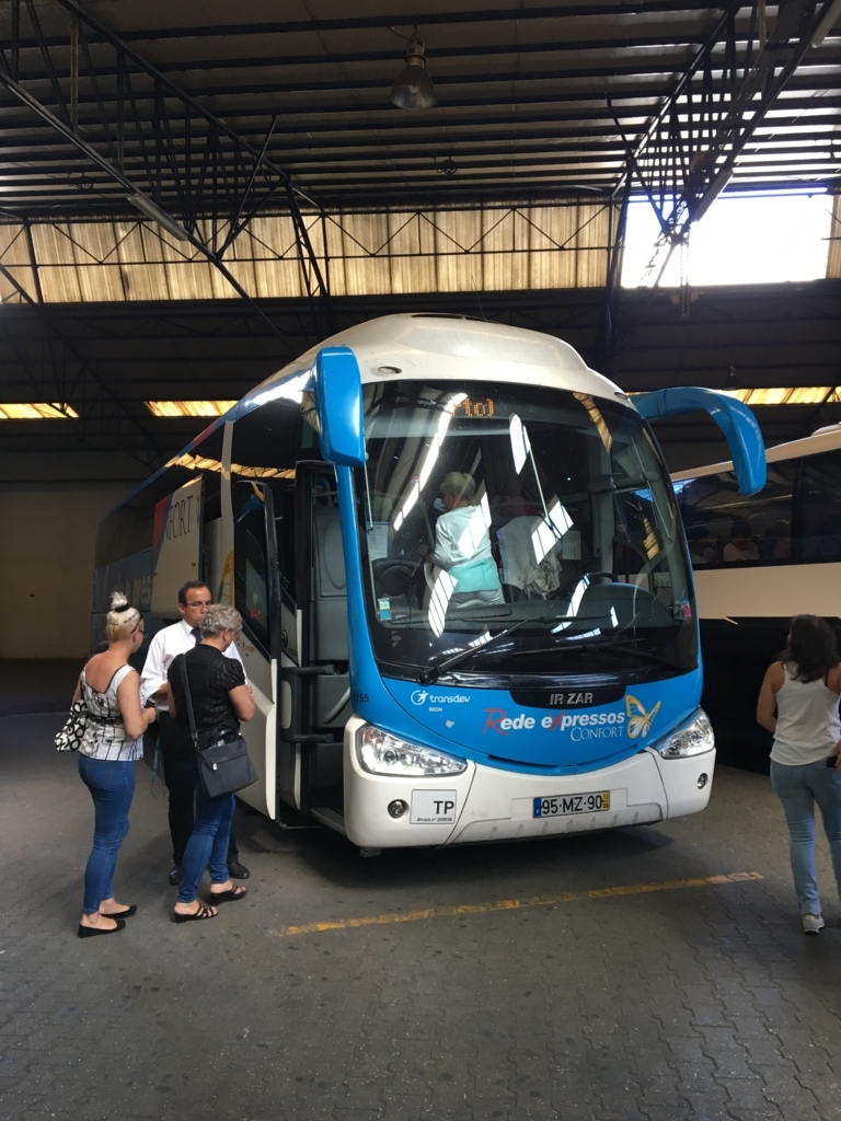 バスでリスボンからポルトへ