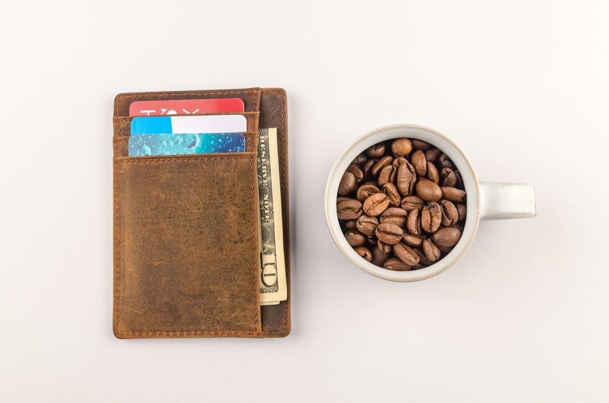 財布とコーヒーのくらべ