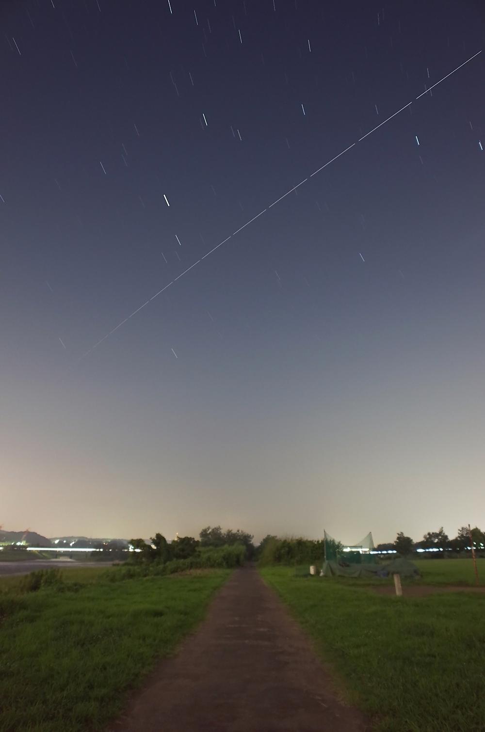 国際宇宙ステーション(ISS)の軌跡 2015年8月31日