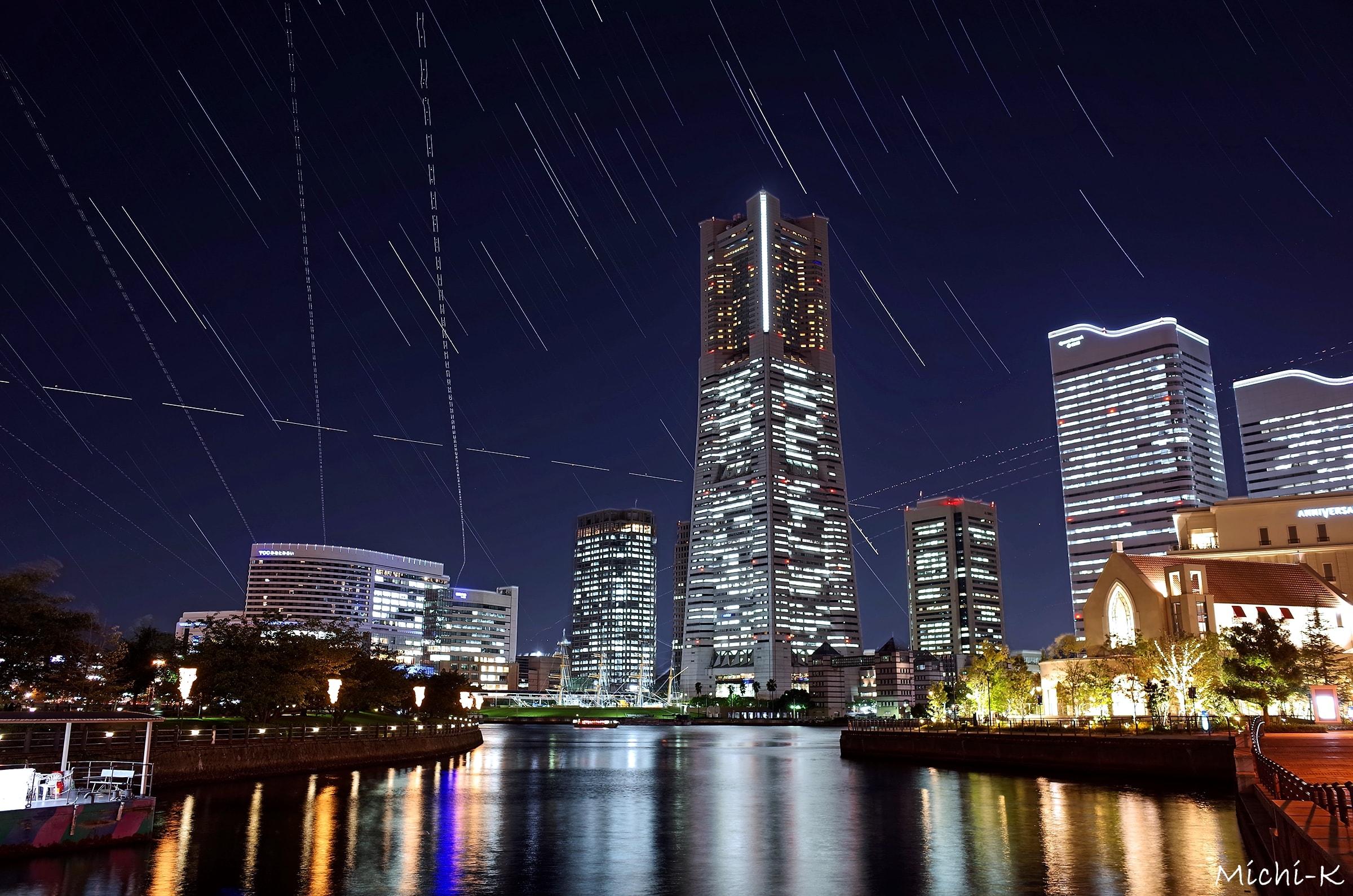 横浜ランドマークタワーの夜景