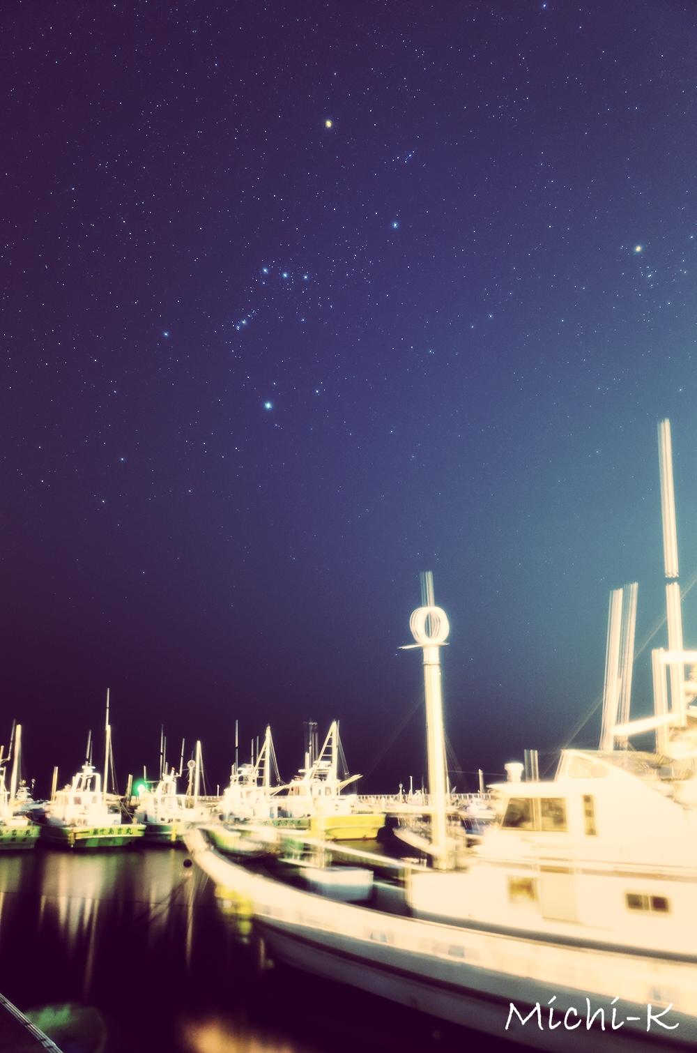 未明の片瀬江ノ漁港