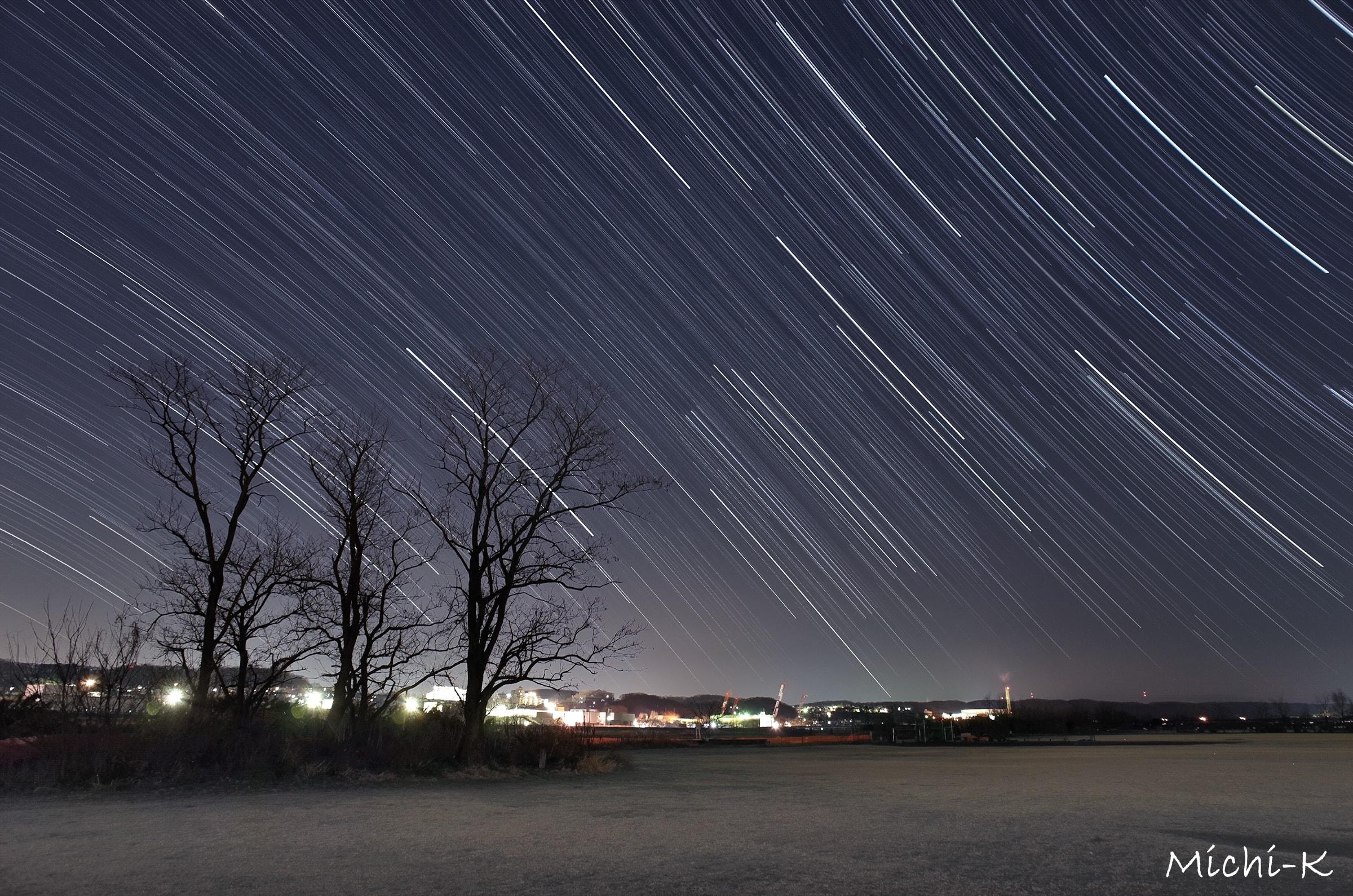 西の空に沈む星たち