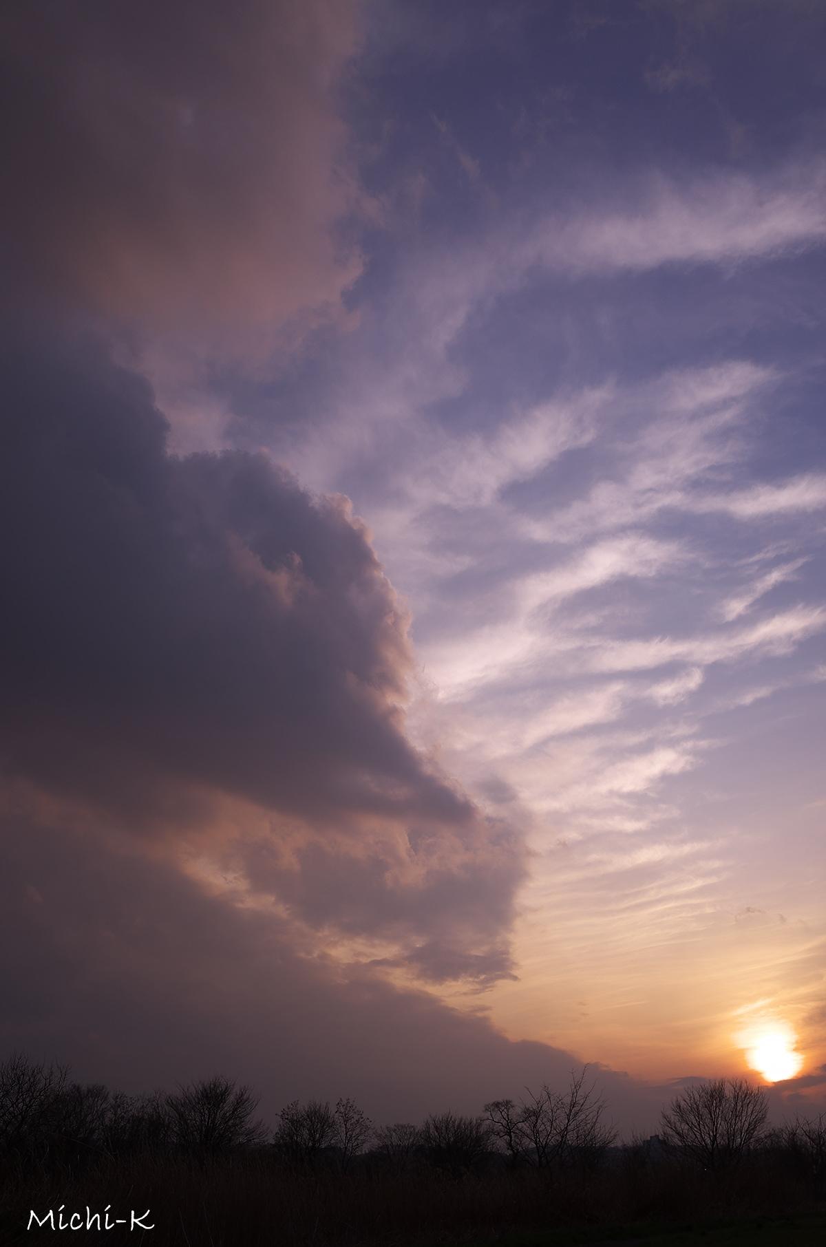 今日の夕方の空-1