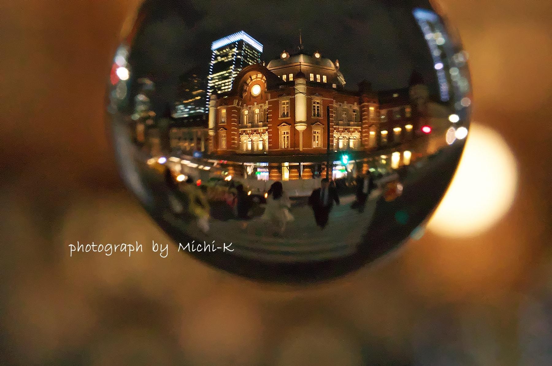 東京駅の夜景-宙玉6