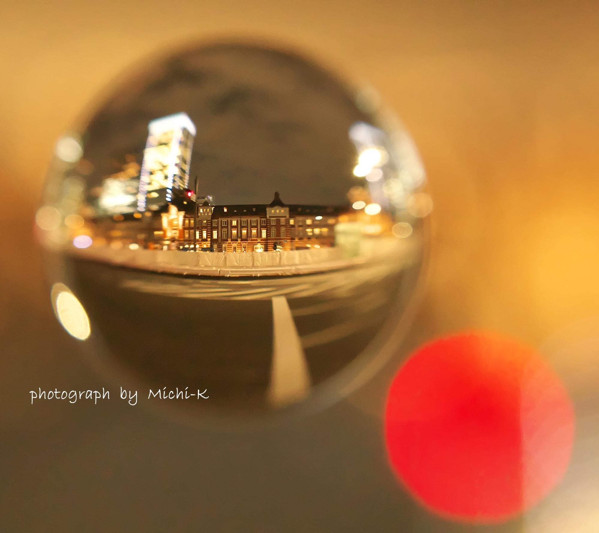 東京駅の夜景-宙玉7