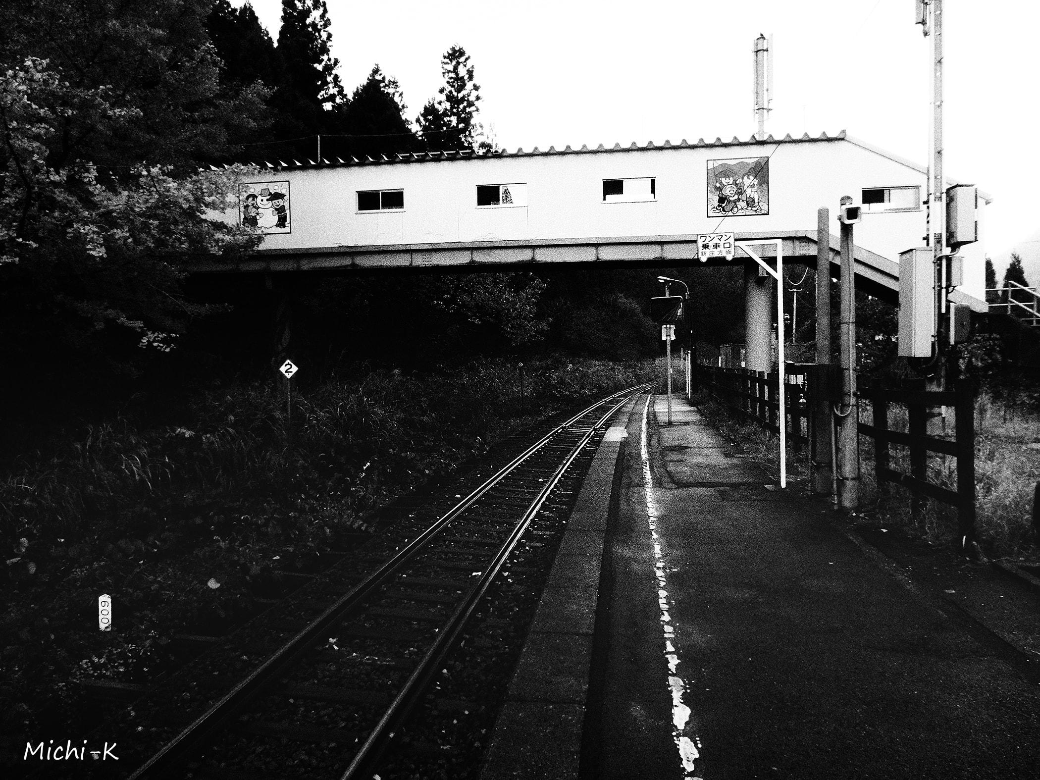 高屋駅(モノクロ写真その1)