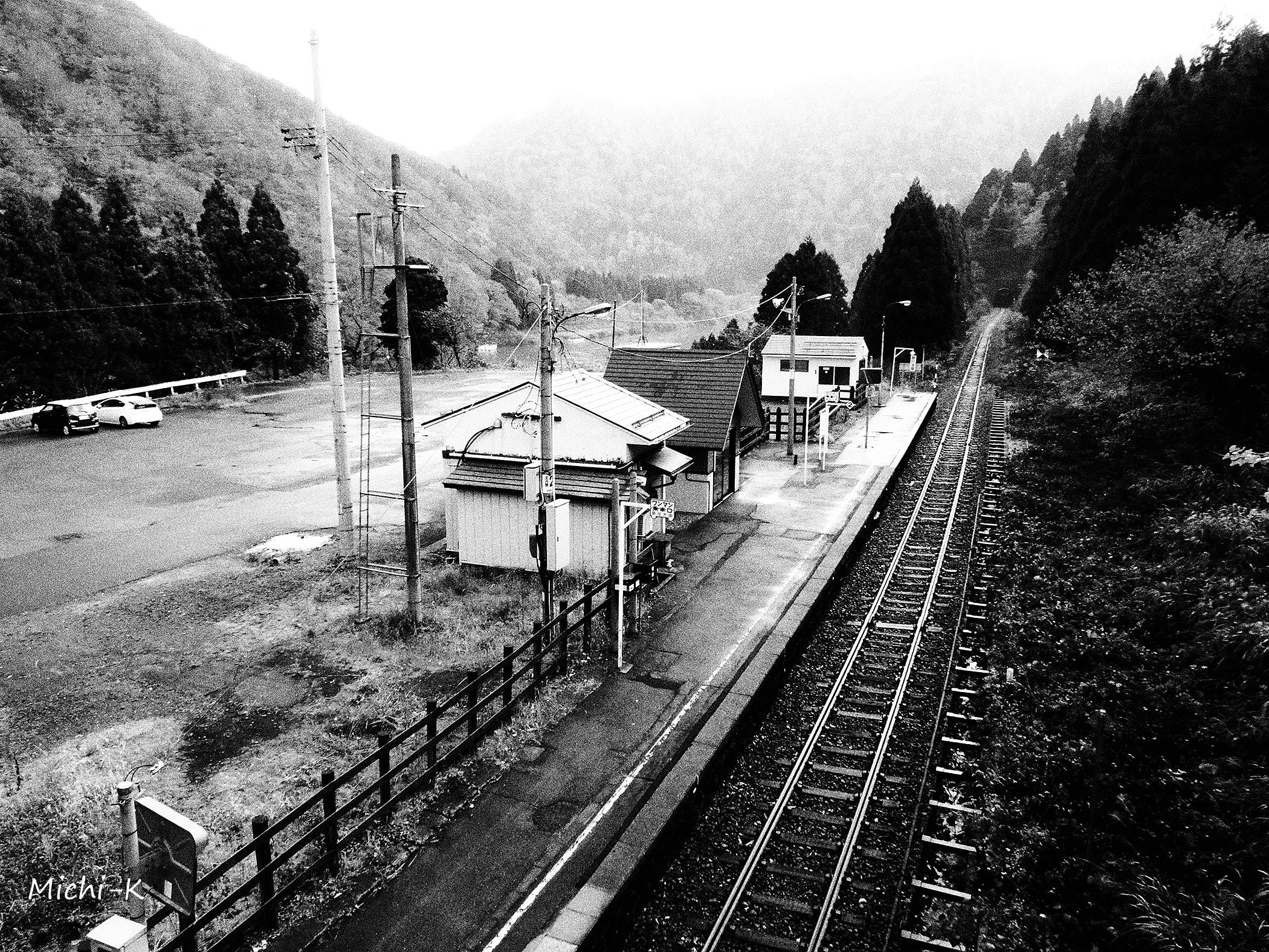 高屋駅(モノクロ写真その5)