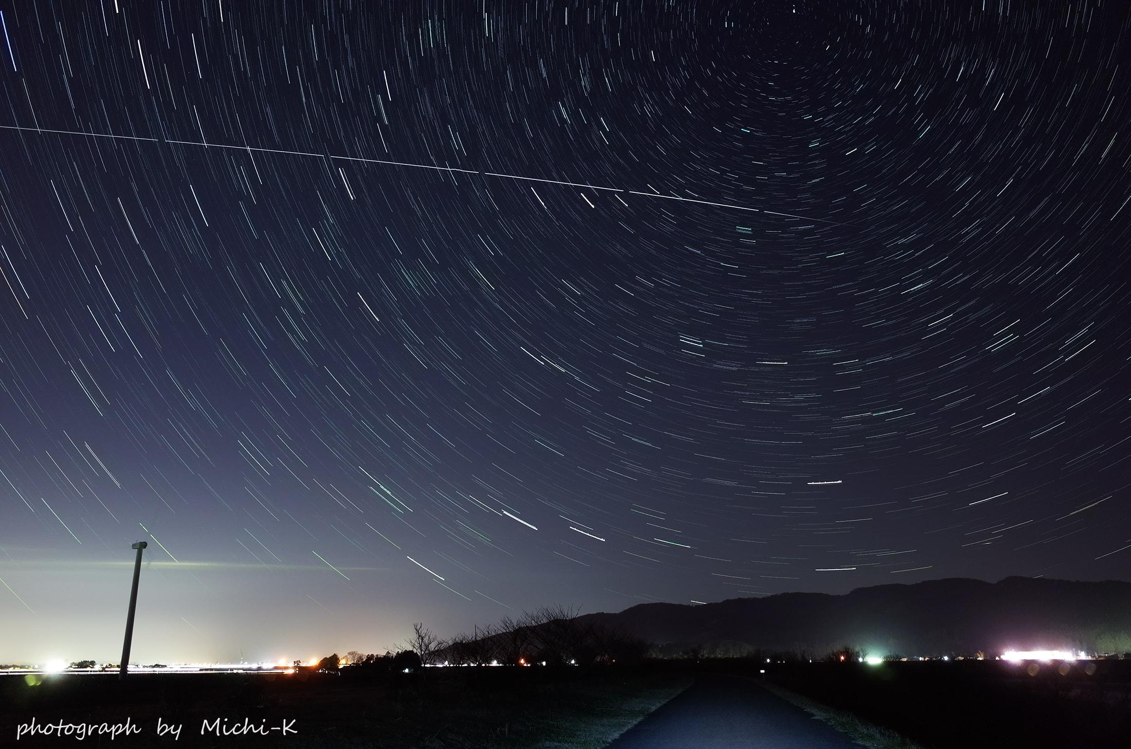 国際宇宙ステーション(ISS)の軌跡-2016年12月3日-山形県庄内町