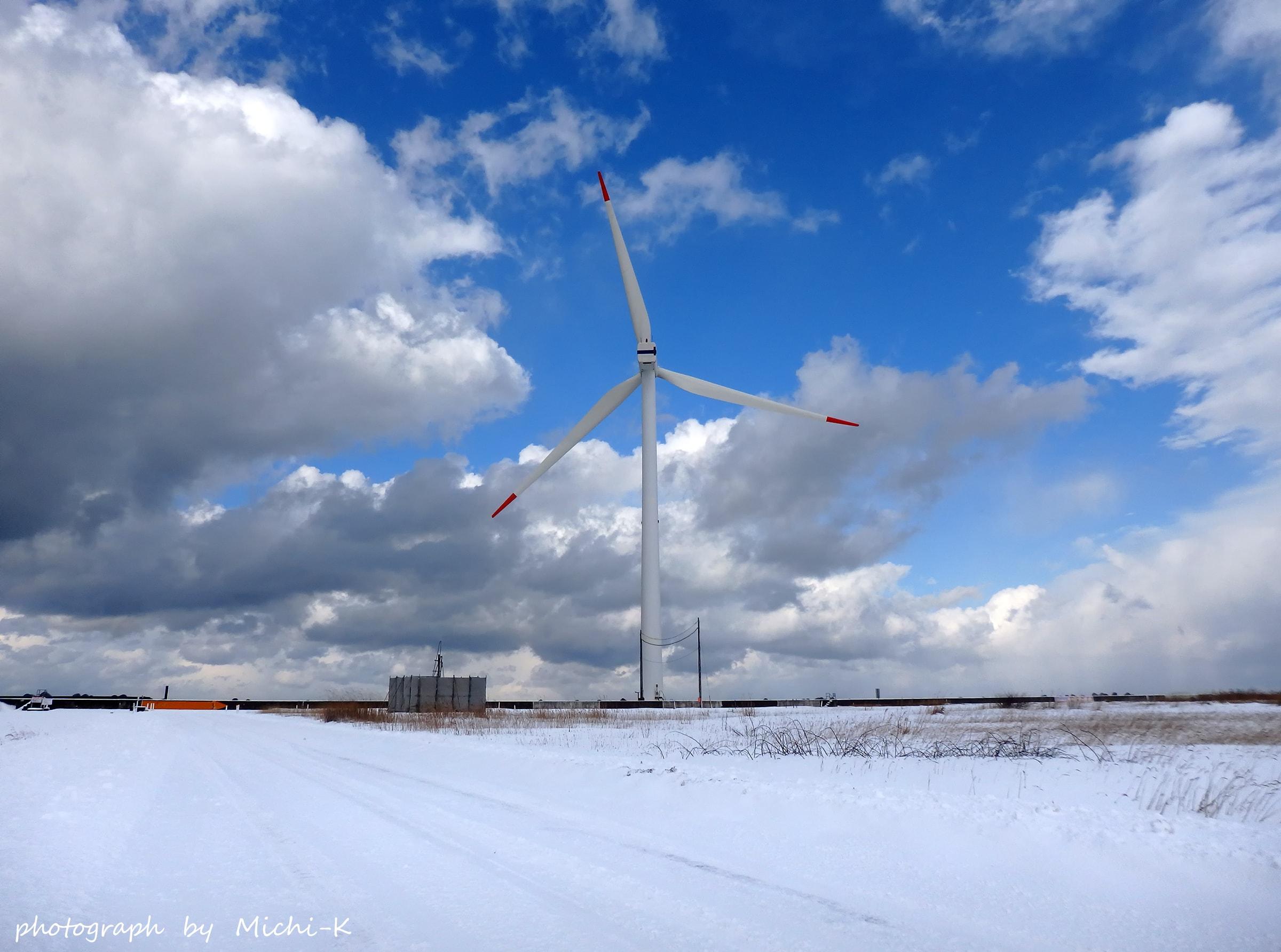 2017年1月15日・酒田北港の風車-3