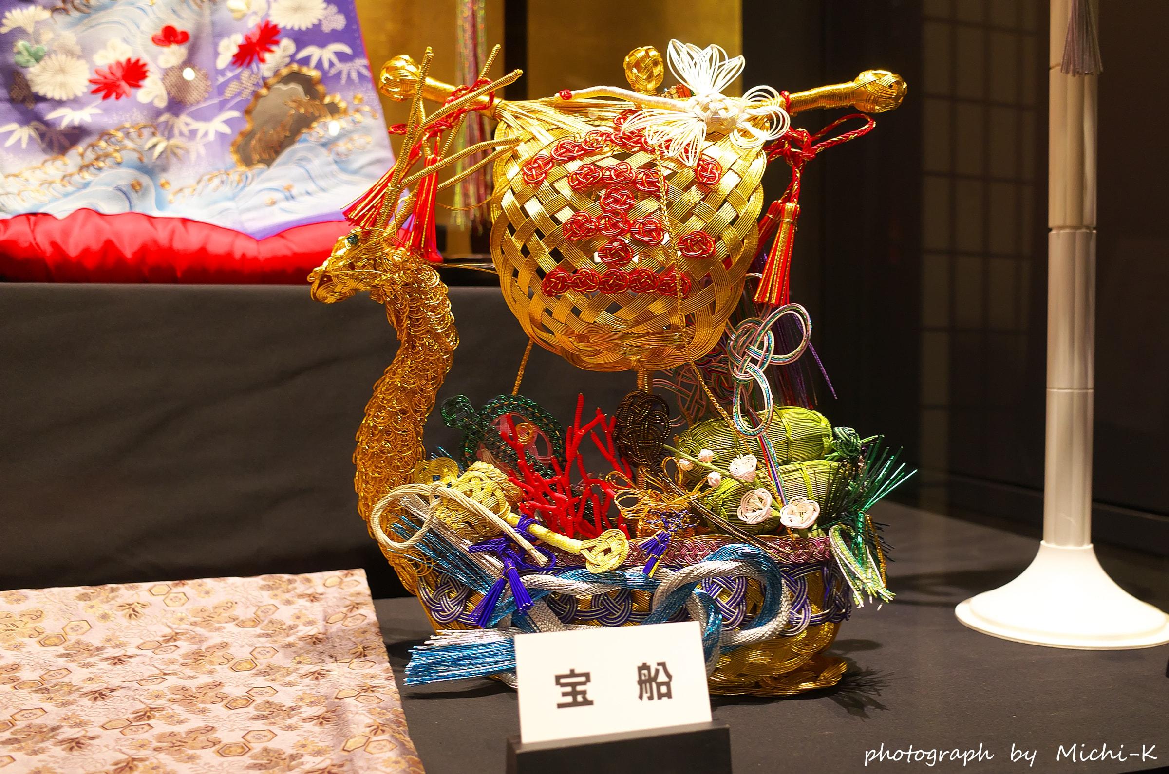 酒田市・山居倉庫-水引展2
