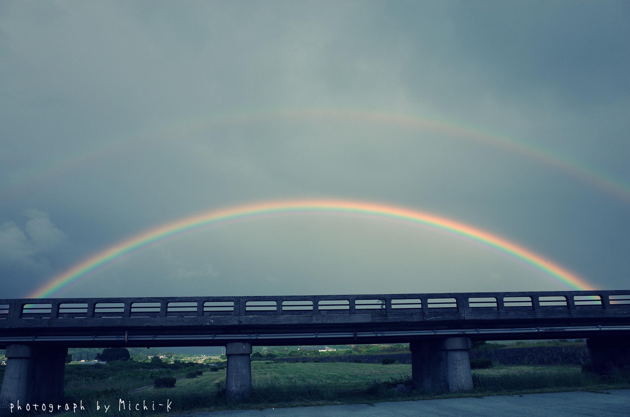 山形県遊佐町で見た虹1