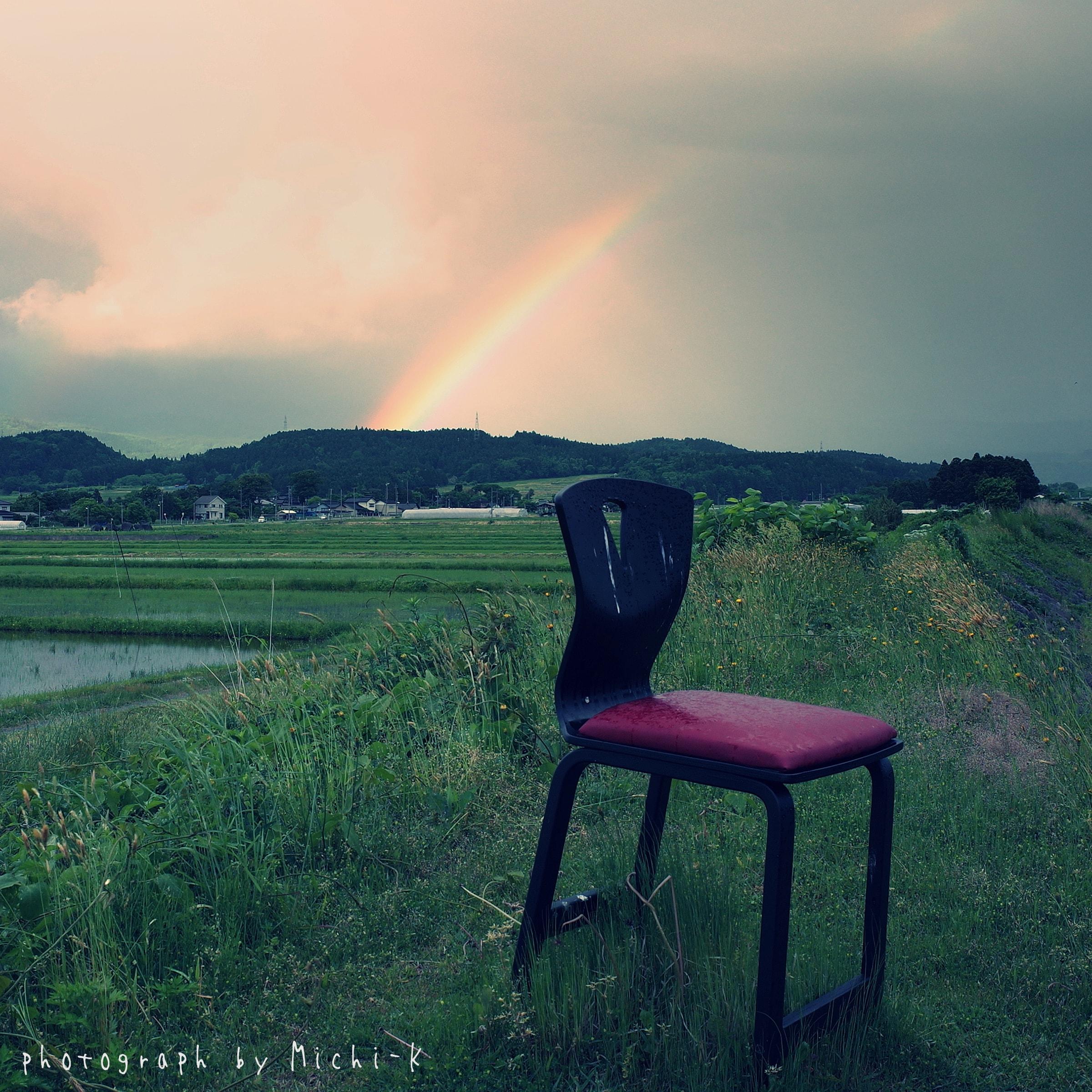 山形県遊佐町で見た虹3