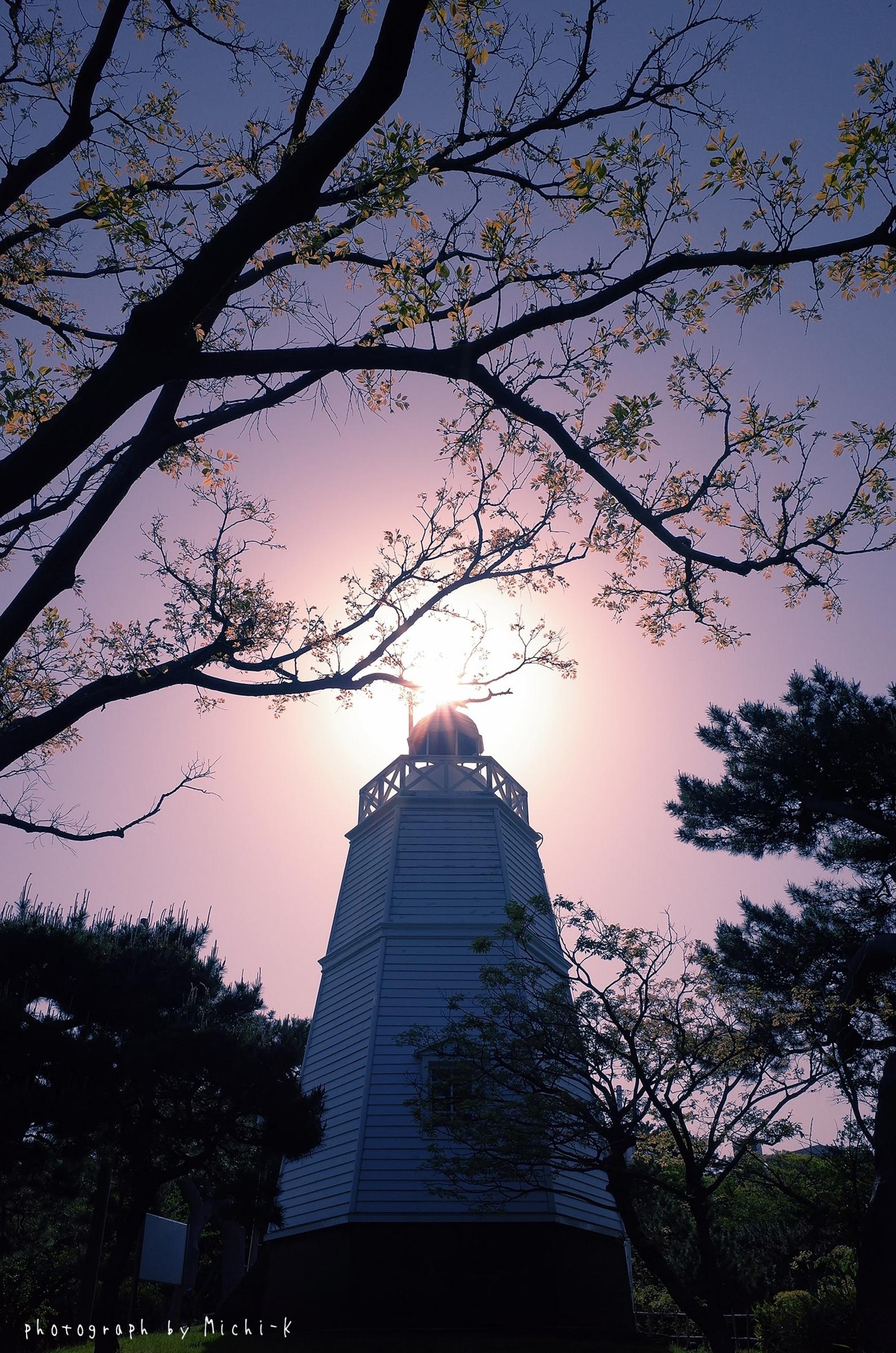 山形県酒田市・日和山六角灯台