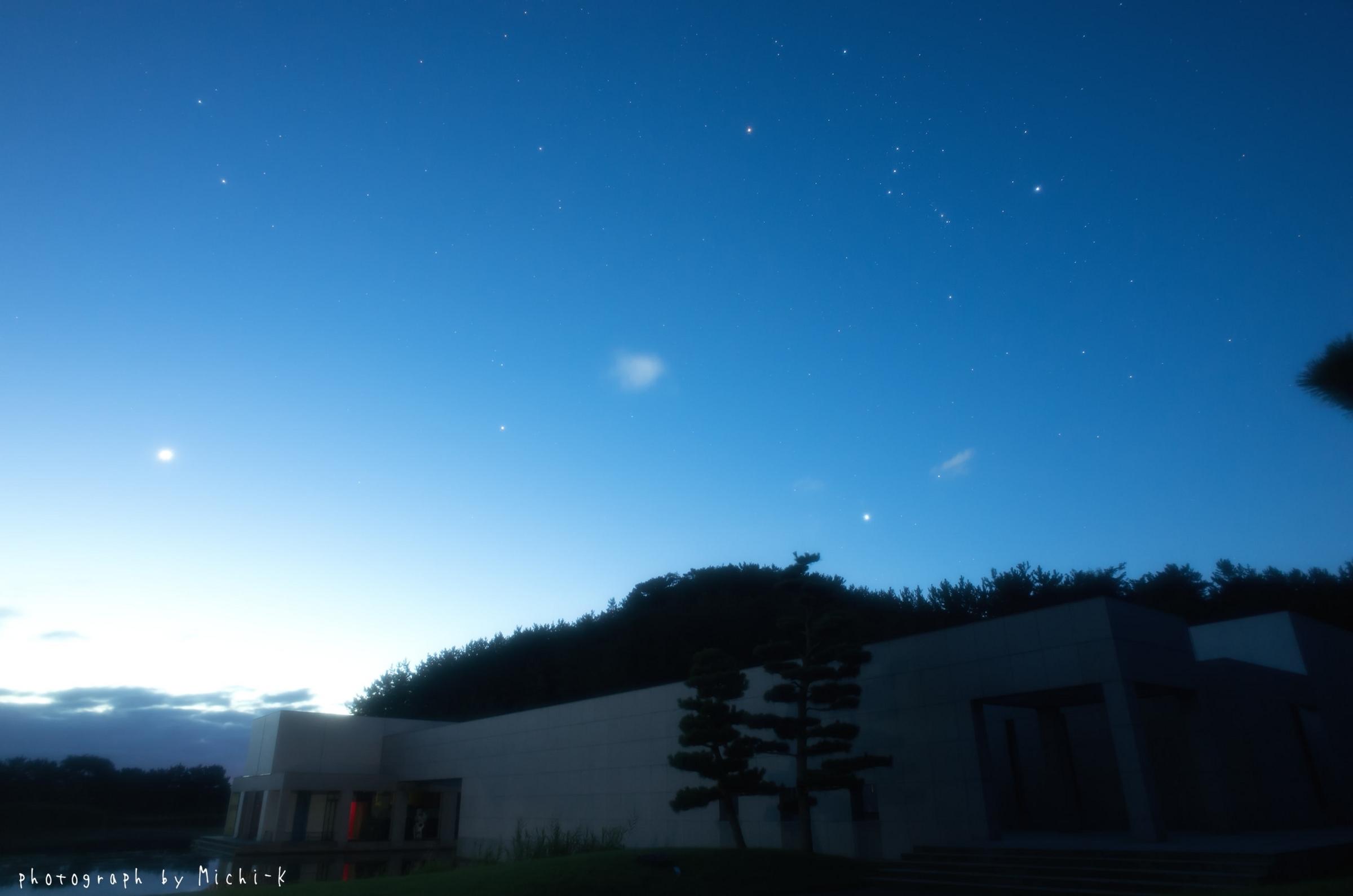 シリウスが見え「冬の大三角形」の星々が揃った。
