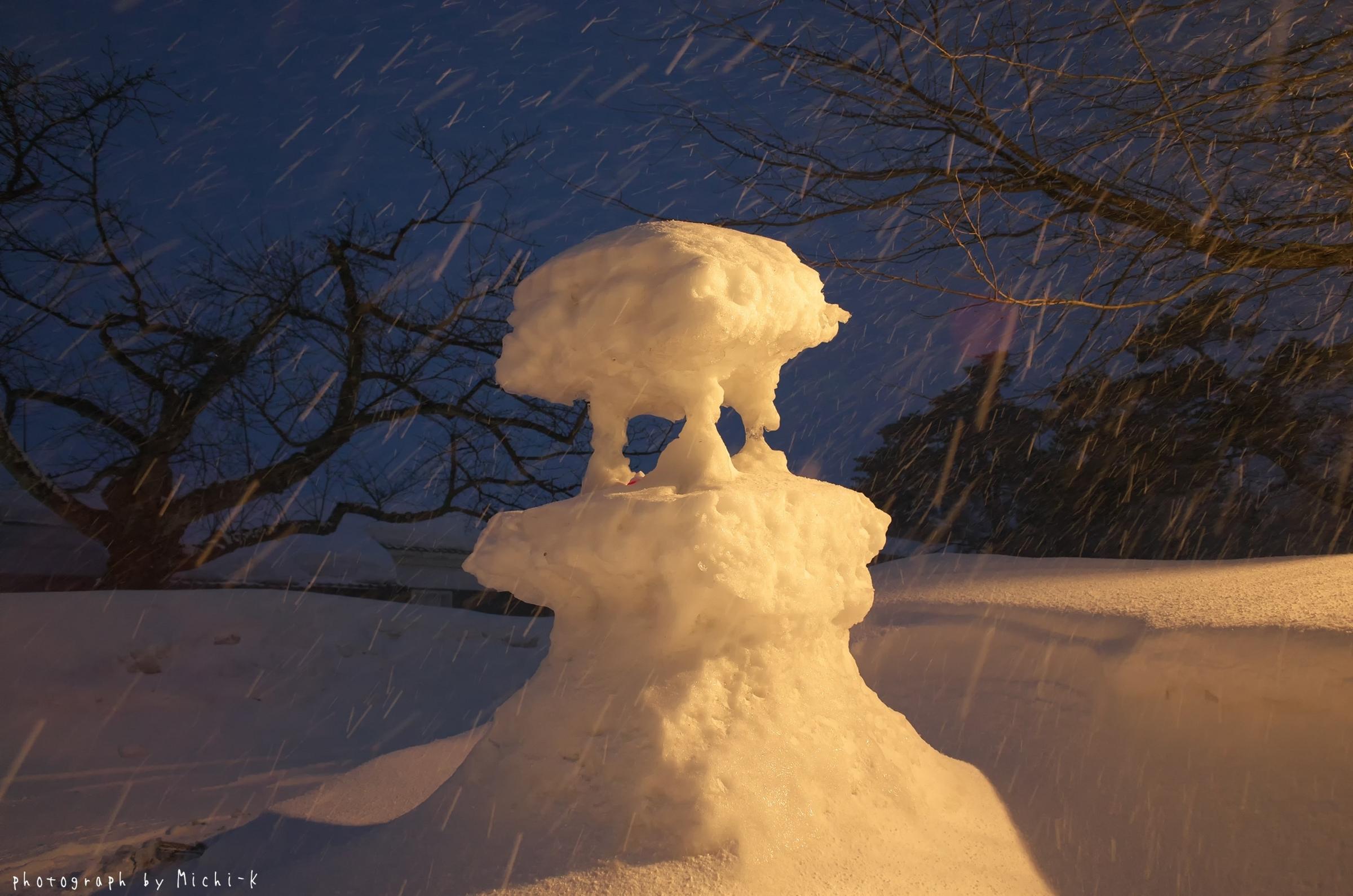 鶴岡市松ヶ丘雪灯篭まつり2018-2-18その2