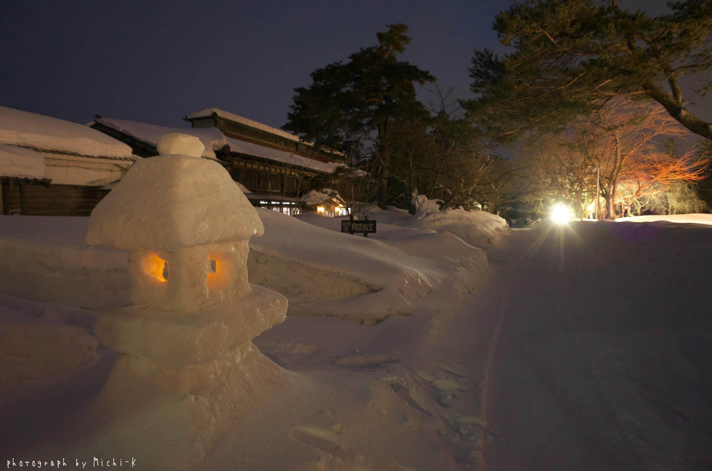 鶴岡市松ヶ丘雪灯篭まつり2018-2-18その3