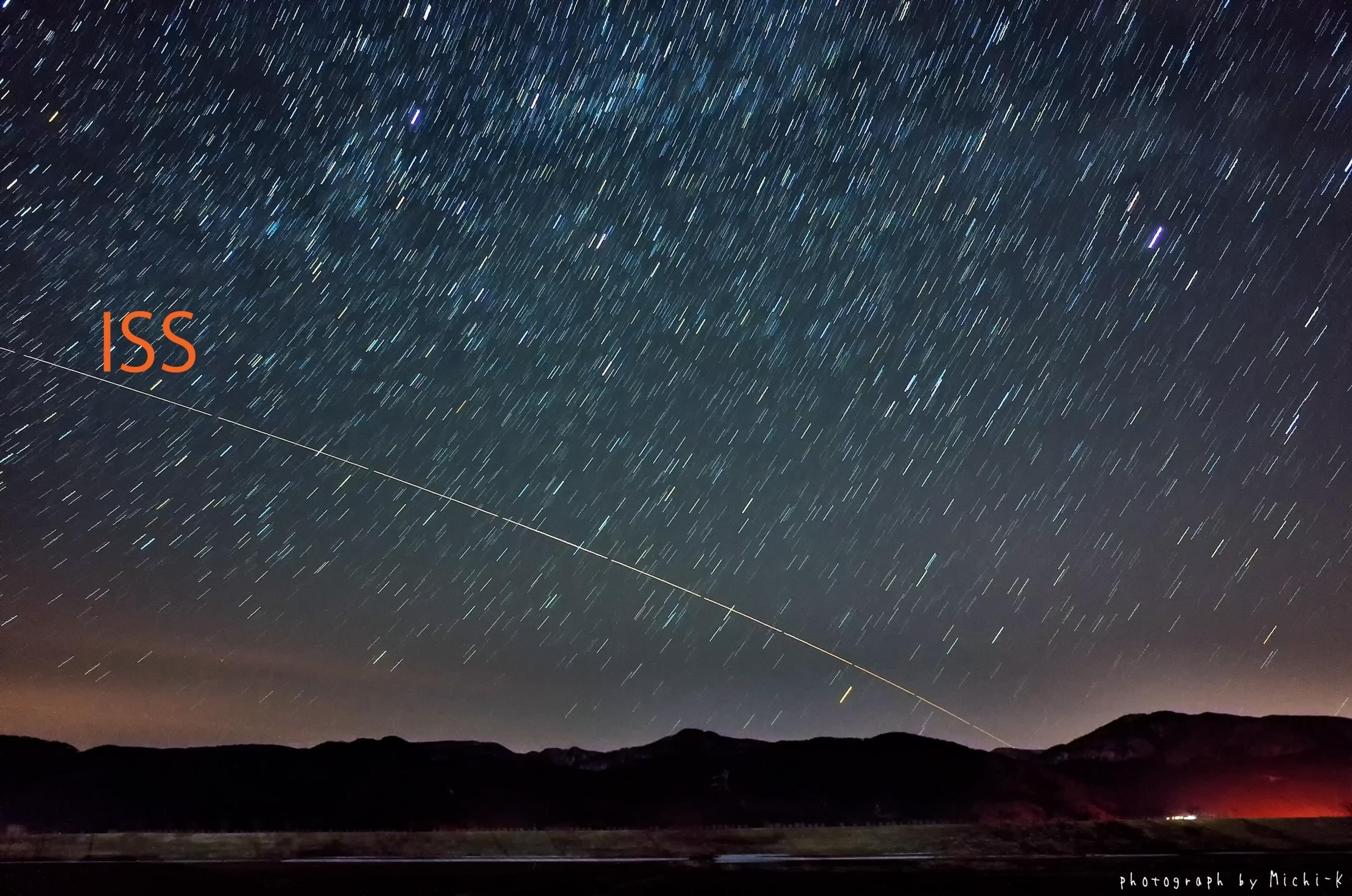 国際宇宙ステーション(ISS)の軌跡 2018年3月18日