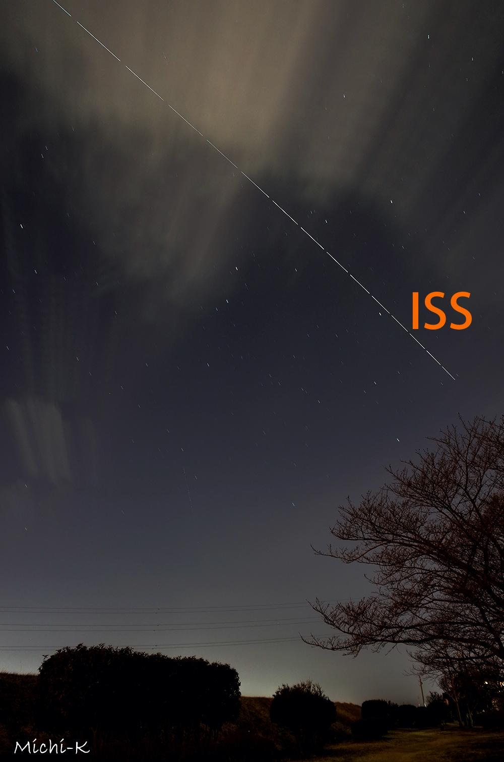 国際宇宙ステーション(ISS)の軌跡 、2016年2月19日