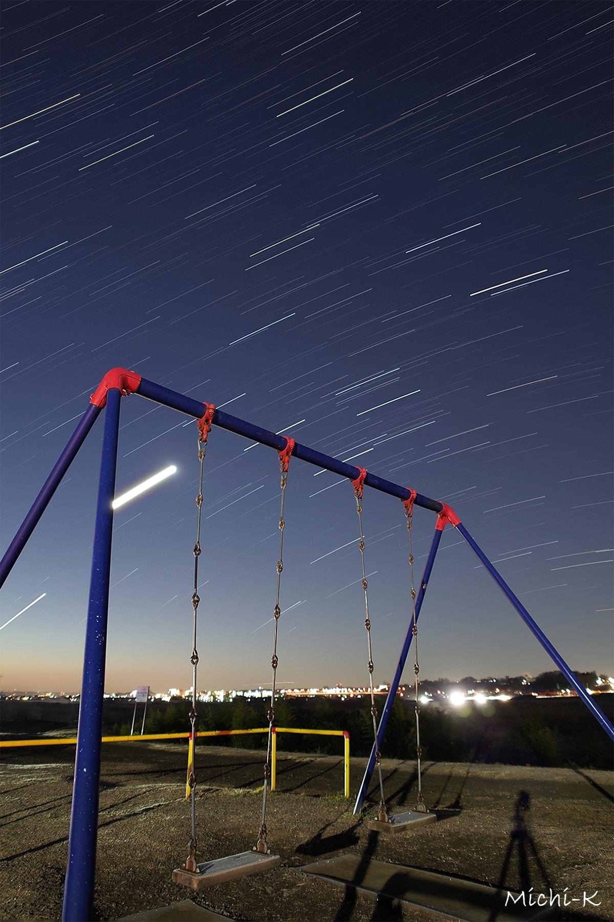 夜の公園にて